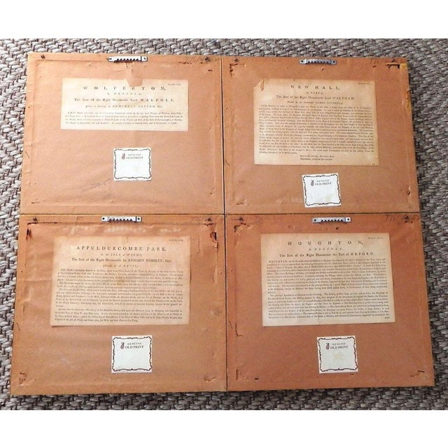 Antique English Architectural Engravings - Set of 4 - Image 5 of 8