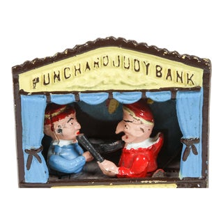 Cast Iron Punch and Judy Bank For Sale