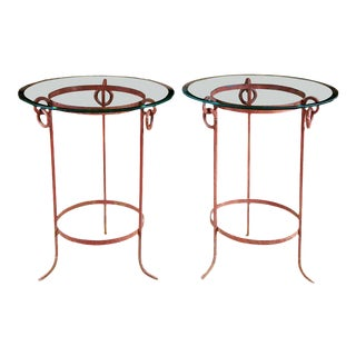 Wrought Iron End Tables - A Pair