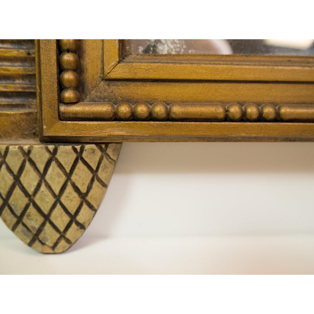 Antique Carved Wood Beveled Italian Mirror - Image 4 of 4