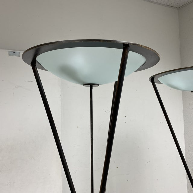 Modern Late 20th Century Tripod Floor Lamps - a Pair For Sale - Image 3 of 13