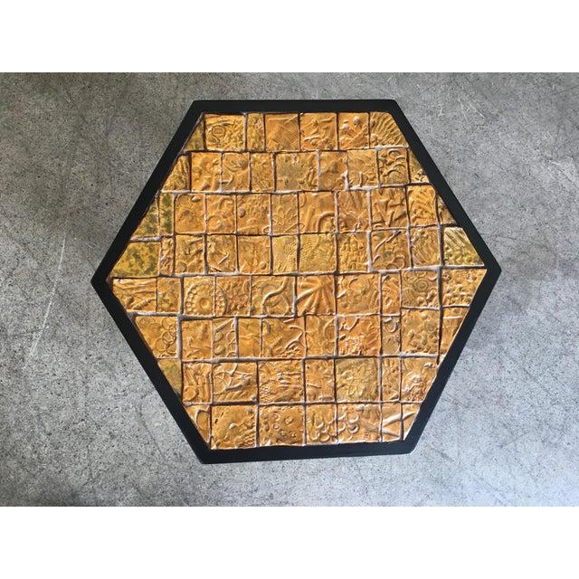 Harvey Probber Mid-Century Modern Brutal Tile Top Side Table For Sale - Image 4 of 7
