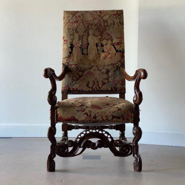 Brown William IV Walnut Carved Armchair For Sale - Image 8 of 8