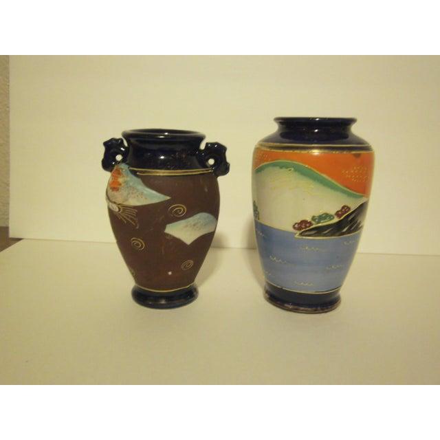 Vintage 1950s Japanese Satsuma Vases - Set of 5 - Image 5 of 11