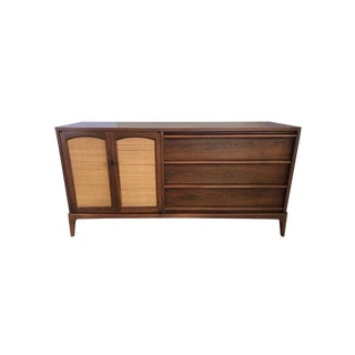 Midcentury Lane Altavista Walnut Server Credenza Buffet Cabinet For Sale