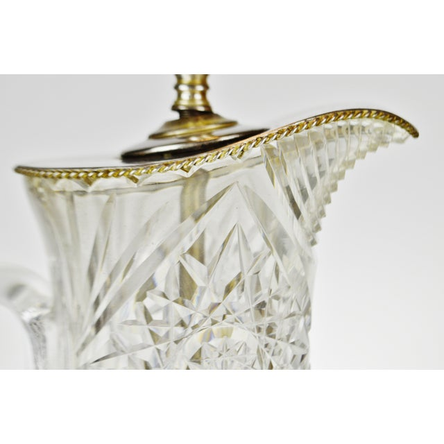 Victorian Victorian Style Cut Glass Pitcher Table Lamp For Sale - Image 3 of 13