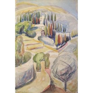 Miriam Hadgadya Mediterranean Villa Painting For Sale
