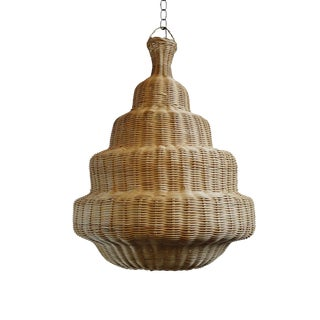 Rattan Madras Lantern Medium For Sale