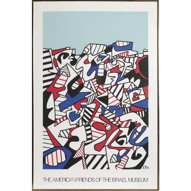 After Jean Dubuffet, American Friends of Israel Museum Framed Offset Lithograph For Sale - Image 4 of 4