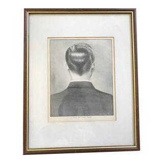 Antique Vintage Man's Regent Haircut Print Lithograph For Sale