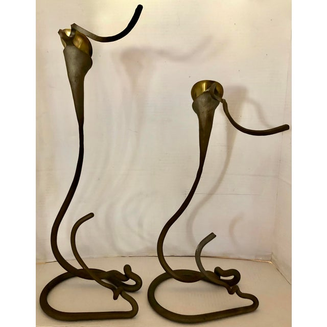 2 Art Nouveau Style Candle Holder For Sale - Image 4 of 10