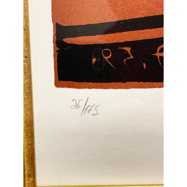 "1950s 1950s Vintage Pablo Picasso Original Linoleum Cut ""Exposition Ceramique Vallauris, 1959"" Signed Print For Sale - Image 5 of 10"