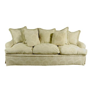 Down Filled Sofa by Swaim For Sale