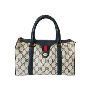 70's Gucci Monogram Speedy Doctor Bag