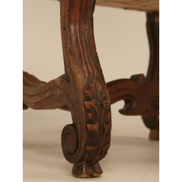 Mid 19th Century Circa 1880 French Walnut Os De Mouton Throne Chair For Sale - Image 5 of 11