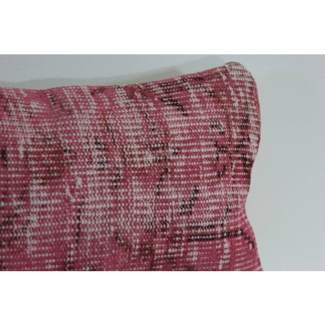 Pink Handmade Overdyed Rug Pillow Cover - Pair - Image 3 of 4