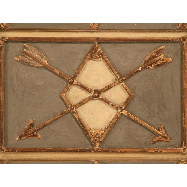 Antique Diamond & Crossed Arrows French Directoire Mirror For Sale - Image 9 of 10