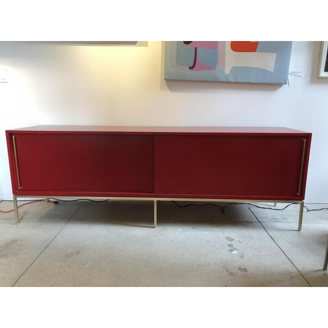 re:379 credenza in red buffed lacquer. Cabinet has just been completely re-lacquered in buffed glossy finish. See last...