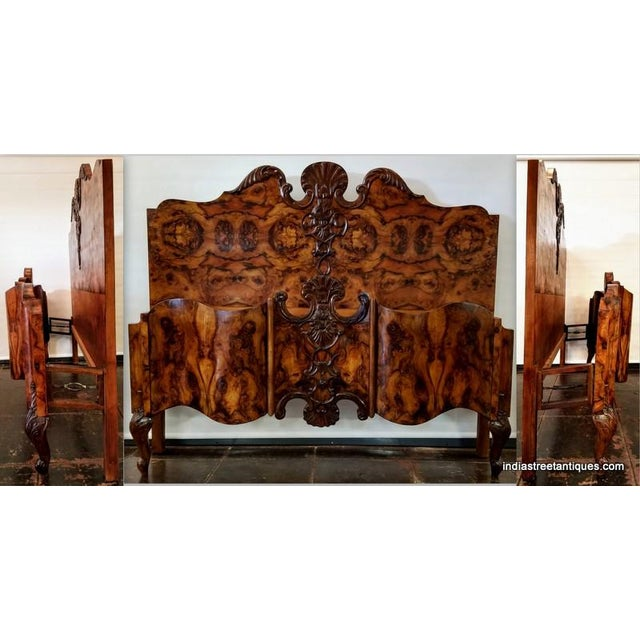 Scarce and stunning six-piece bedroom suite in the Italian Neo-Rococo / Venetian Baroque styles popular throughout Europe...