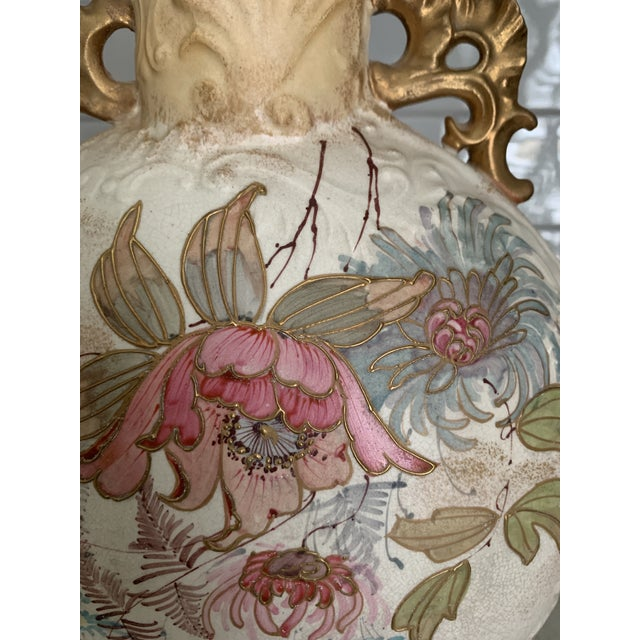 Antique 1860 Samuel Moore & Co. Chinoiserie Moon Vase For Sale In Houston - Image 6 of 9