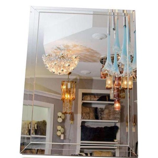 2010s Custom Tiered Stacked Mirror For Sale - Image 5 of 5