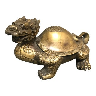 Bronze Chinese Art Lucky Charm Dragon Sculpture For Sale