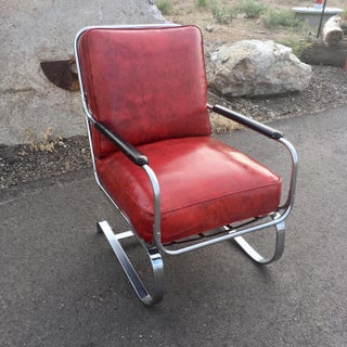 "1930s Art Deco Kem ""Springer Chair"" for Lloyd Manufacturing Preview"