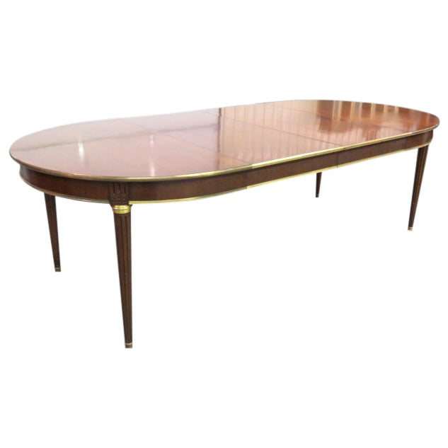 Louis XVI Style Bronze Mounted Dining Table - Image 1 of 8