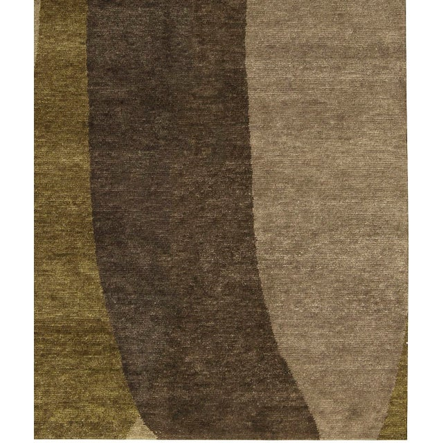 "Contemporary Hand-Woven Rug - 6'1"" x 9' - Image 3 of 3"
