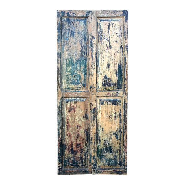 Pair of 19th Century Painted Doors For Sale