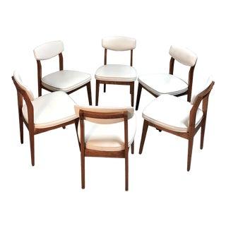 Mid Century Danish Modern Dining Chairs by Hibriten / Bernhardt—Set of 6 For Sale