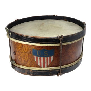 Early 20th Century Antique Parade Marching Snare Drum For Sale