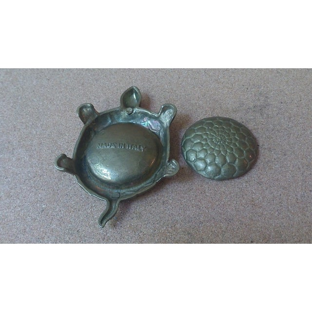 Vintage Brass Turtle Lidded Trinket Box - Image 7 of 7