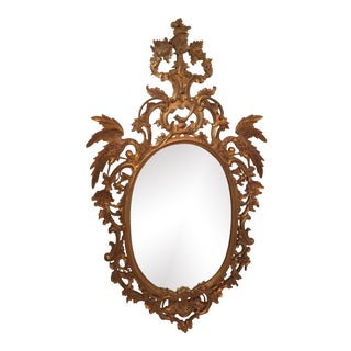 Vintage Hollywood Regency Style Gold Leaf / Gilt Mirror For Sale