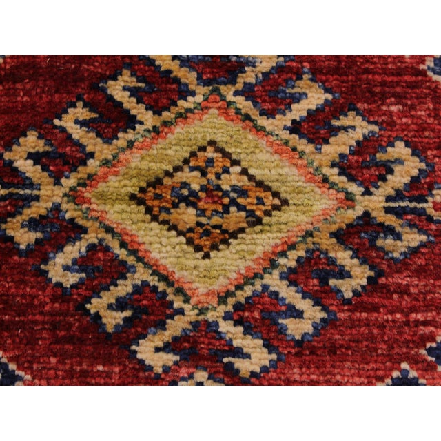 Persian Margaret Red/Beige Hand-Knotted Wool Rug - 2'0 X 2'10 For Sale - Image 4 of 8