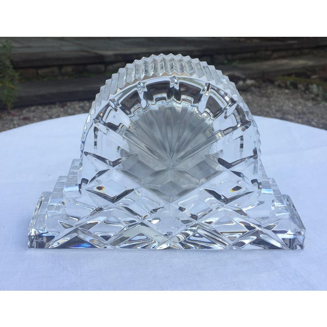 Cottage Waterford Crystal Cottage Clock For Sale - Image 3 of 3