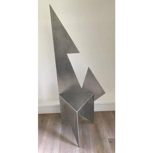 Contemporary Cut Steel Architectural Chair For Sale - Image 3 of 6