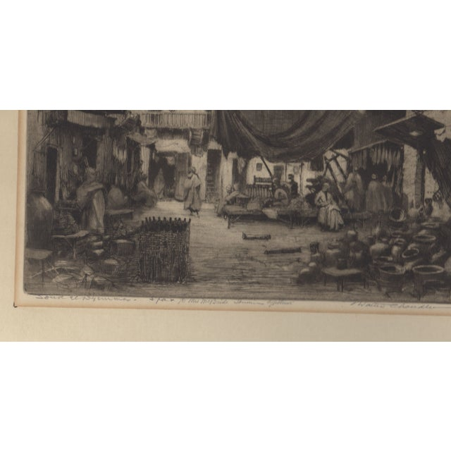1930's Etching by Walter Chandler For Sale - Image 4 of 5