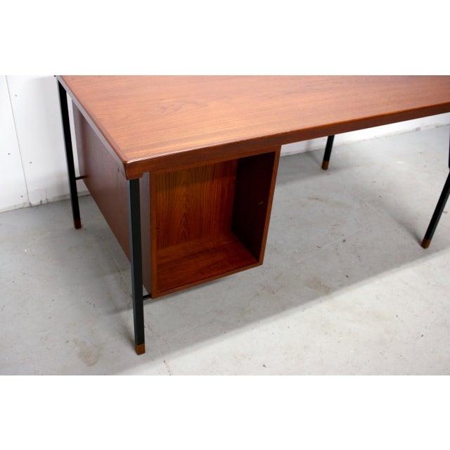 Vintage Danish Modern Arne Vodder for Jon Stuart Teakwood Writing Desk For Sale - Image 9 of 12