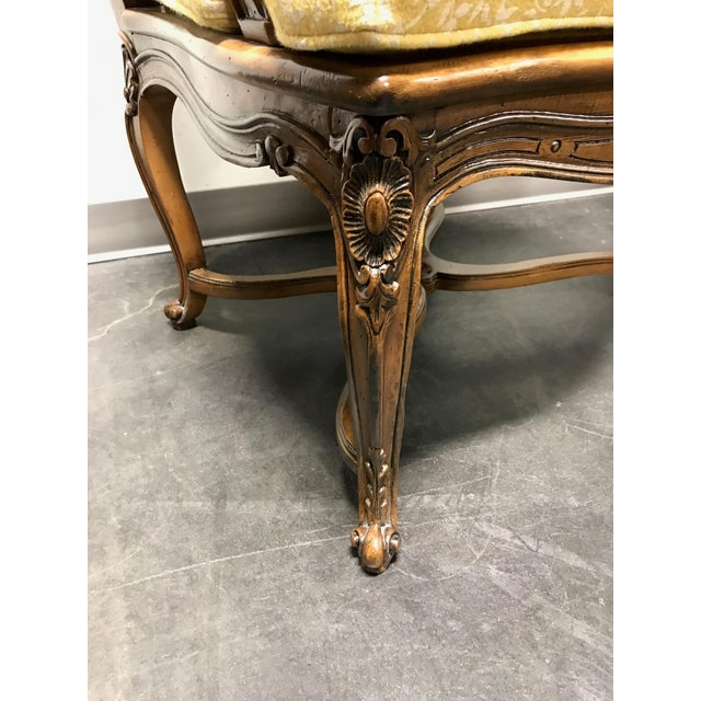 Carved French Style Open Armchairs with Cane Backs - A Pair - Image 5 of 11