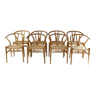 Hans Wegner for Carl Hansen & Son Ch24 Wishbone Chairs - Set of 8 For Sale