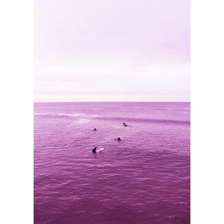 """Venice Beach Purple Sea"" Contemporary Beach Landscape Photograph For Sale"