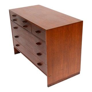 1950s Hans Wegner Mid Century Modern Teak Dresser for Ry Mobler/George Tanier For Sale