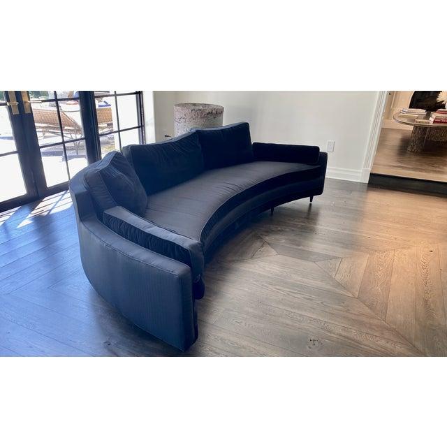 Harvey Probber 1960s Harvey Probber Crescent Curved Sofa For Sale - Image 4 of 6