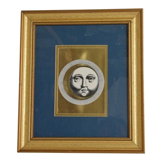 Mid-Century Modern Wall Art Framed Fonasetti For Sale