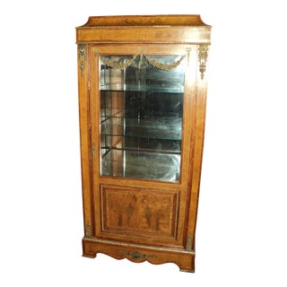 Antique French Kingwood Display Cabinet For Sale