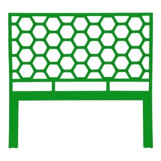 Honeycomb Headboard Queen - Bright Green For Sale