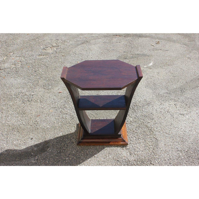 1940s Art Deco Macassar Ebony Tulip Coffee Table For Sale - Image 4 of 12