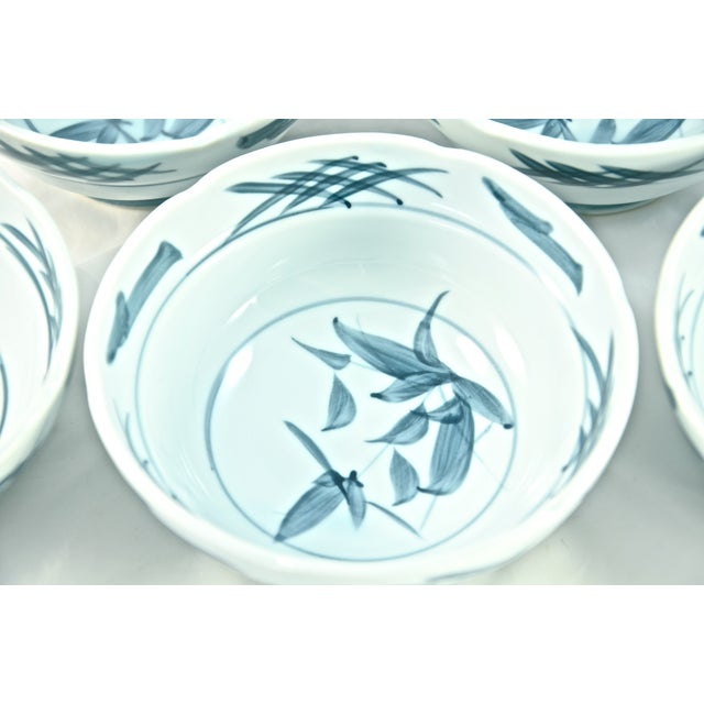 Blue & White Chinoiserie Bowls - Set of 5 - Image 3 of 5