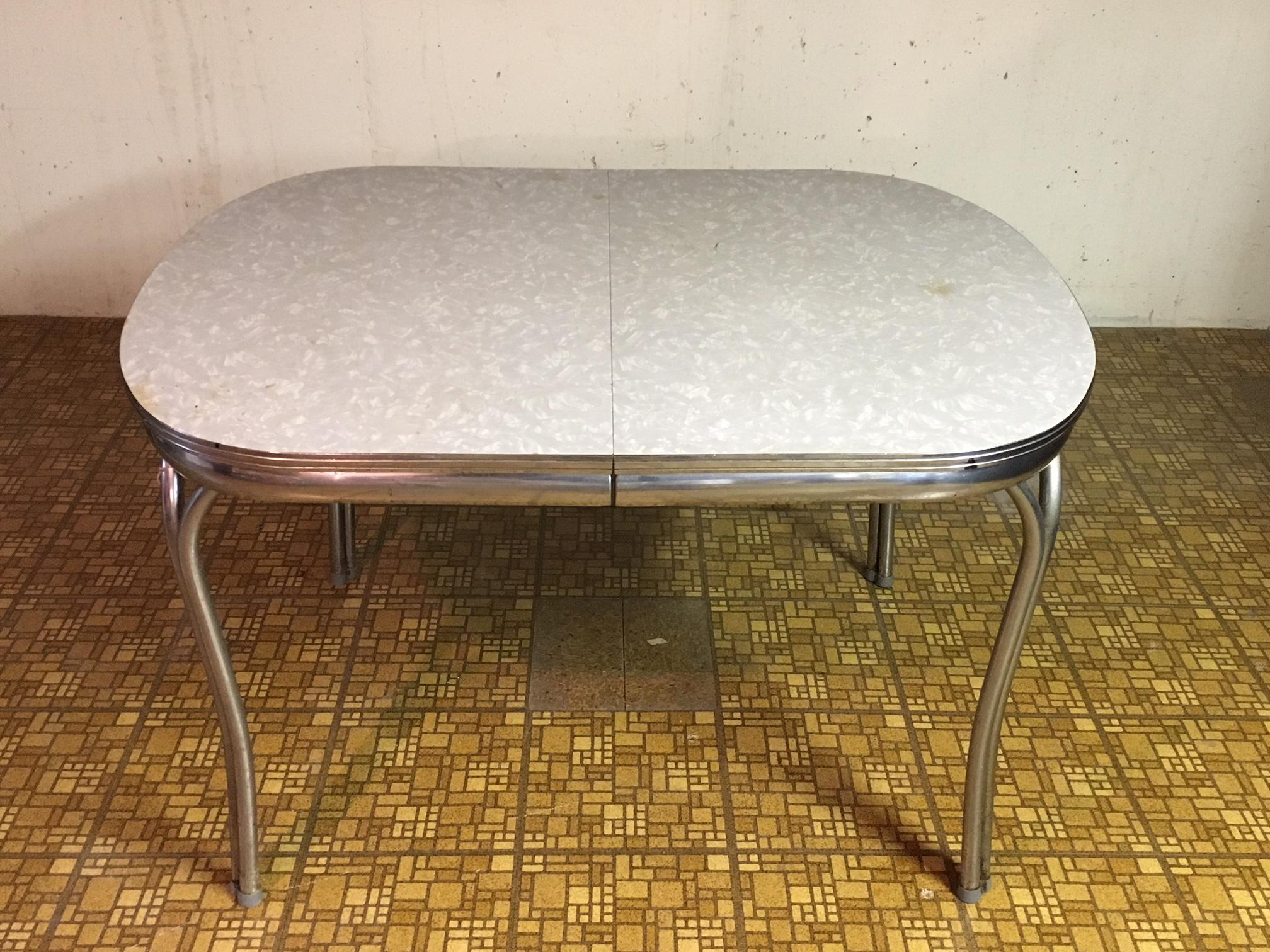 Vintage Early 1950 S Chrome Kitchen Table Chairs Set Chairish
